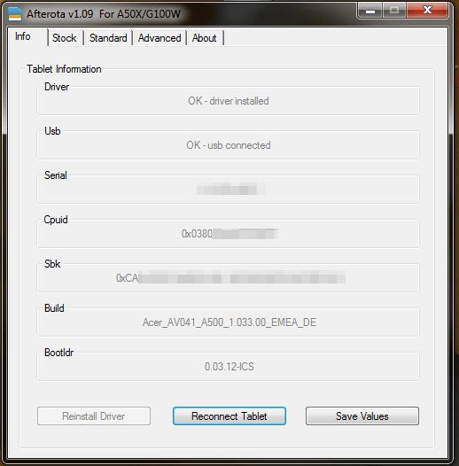 Acer a501 apx драйвер