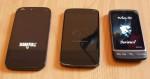 Wiko Darkfull, Nexus 4, HTC-Desire (von links nach rechts)